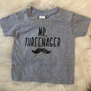 Boys Mr. Threenager Graphic Tee